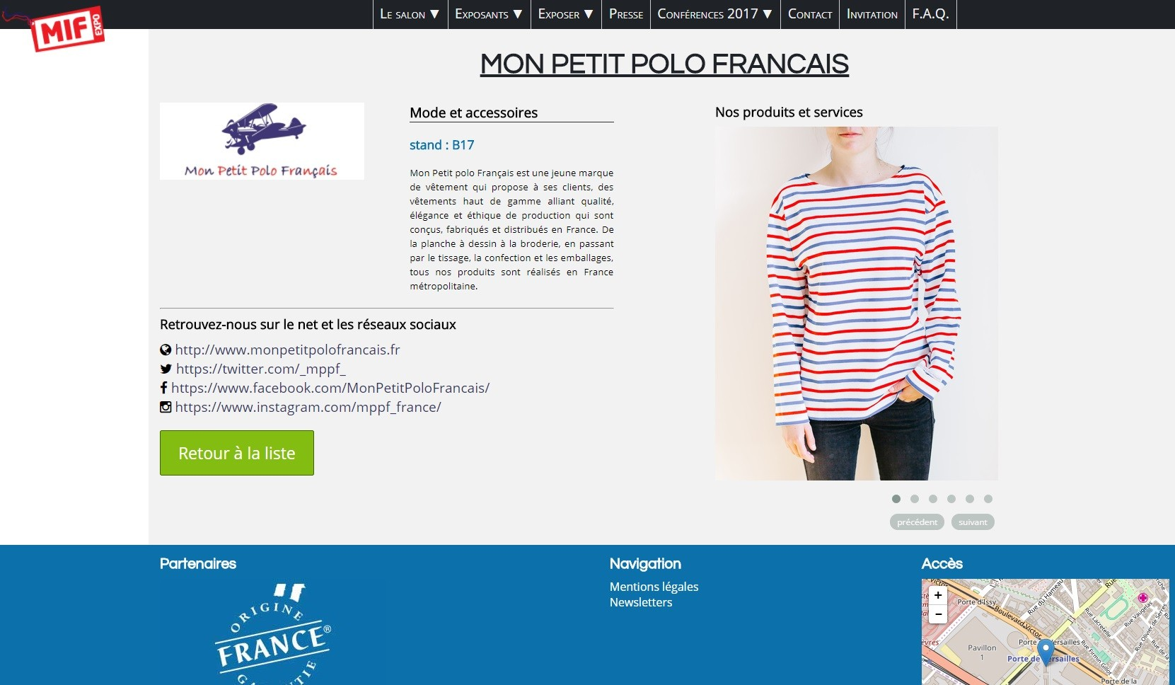 MIF EXPO : Salon du Made in France 2017
