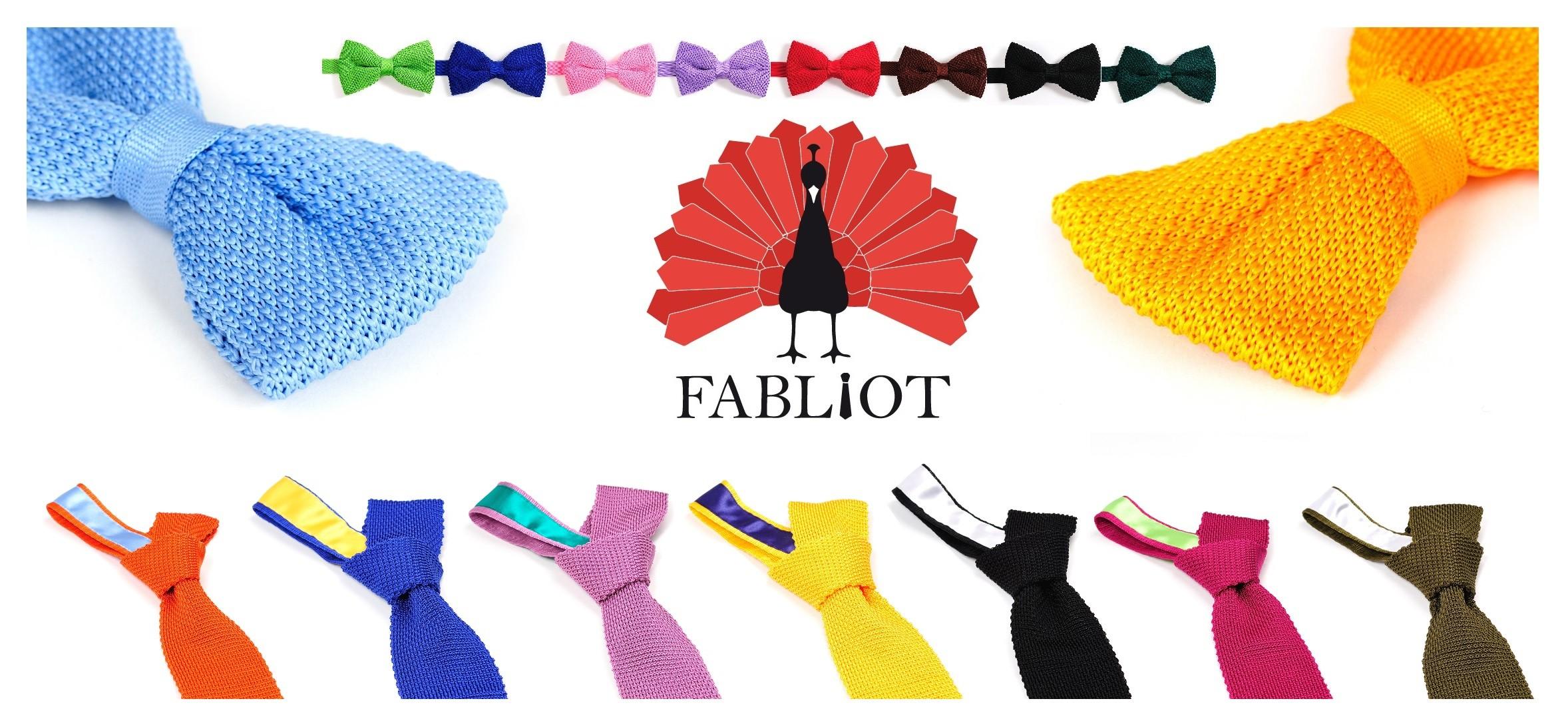 Partenaire des jolis cravates et noeuds pap' en tricot de soie FABLIOT